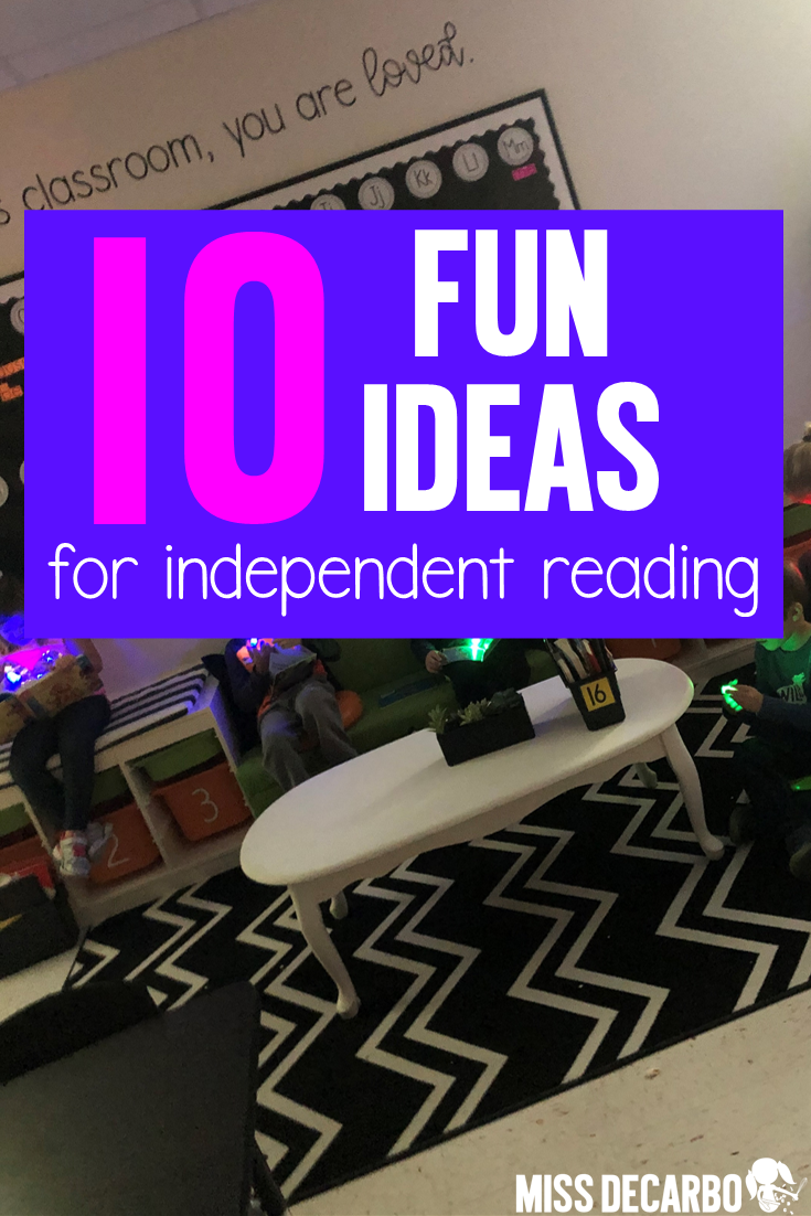 Try out these fun and motivating ideas when your independent reading time needs a little extra engagement and energy!