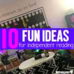 10 Independent Reading Time Ideas