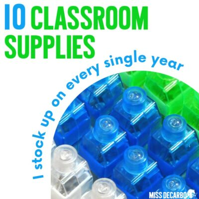 10 supplies I stock up on every year with my classroom budget! Here's a list of what I order and how I use these supplies in my classroom.