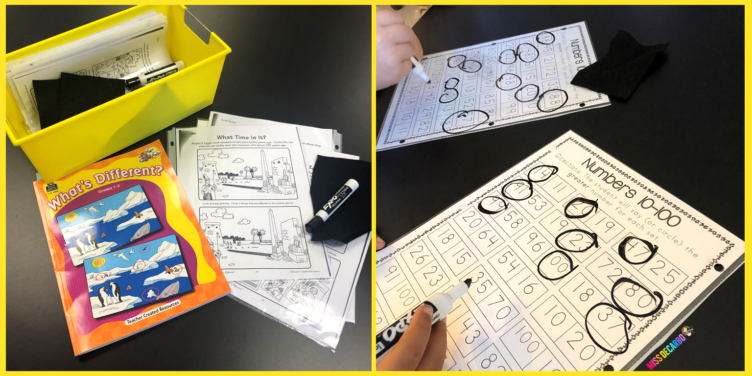 Use black felt as erasers for dry-erase markers!
