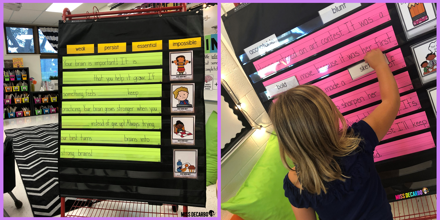 Teachers can use sentence strips or the included PDF copy to display these weekly vocabulary instructional passages. Using the sentence strips allows students to interact directly with the words in a hands-on way.