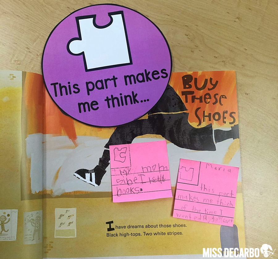 Miss DeCarbo's Read and Think resource includes model lessons and materials that make stopping and jotting while independently reading easy and engaging for beginning readers!