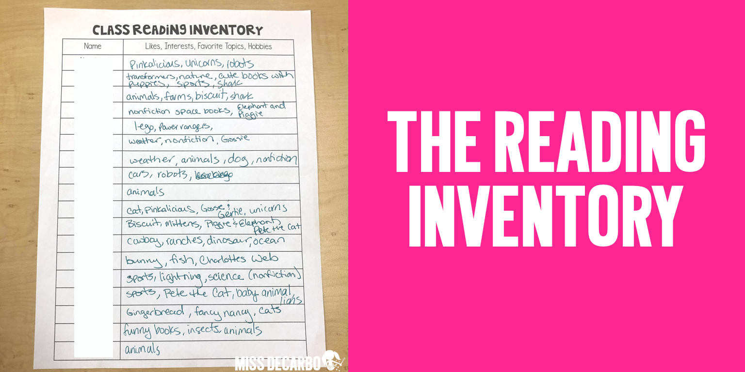 Filling out this FREE Reading Inventory will help you discover your students' likes and dislikes. You can use this information to help your students find books they will love and topics they want to read about.