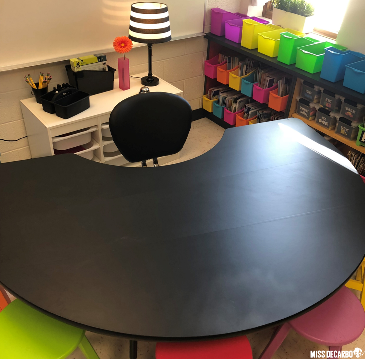 Cover the small group table in your classroom with contact paper to give it a new look!
