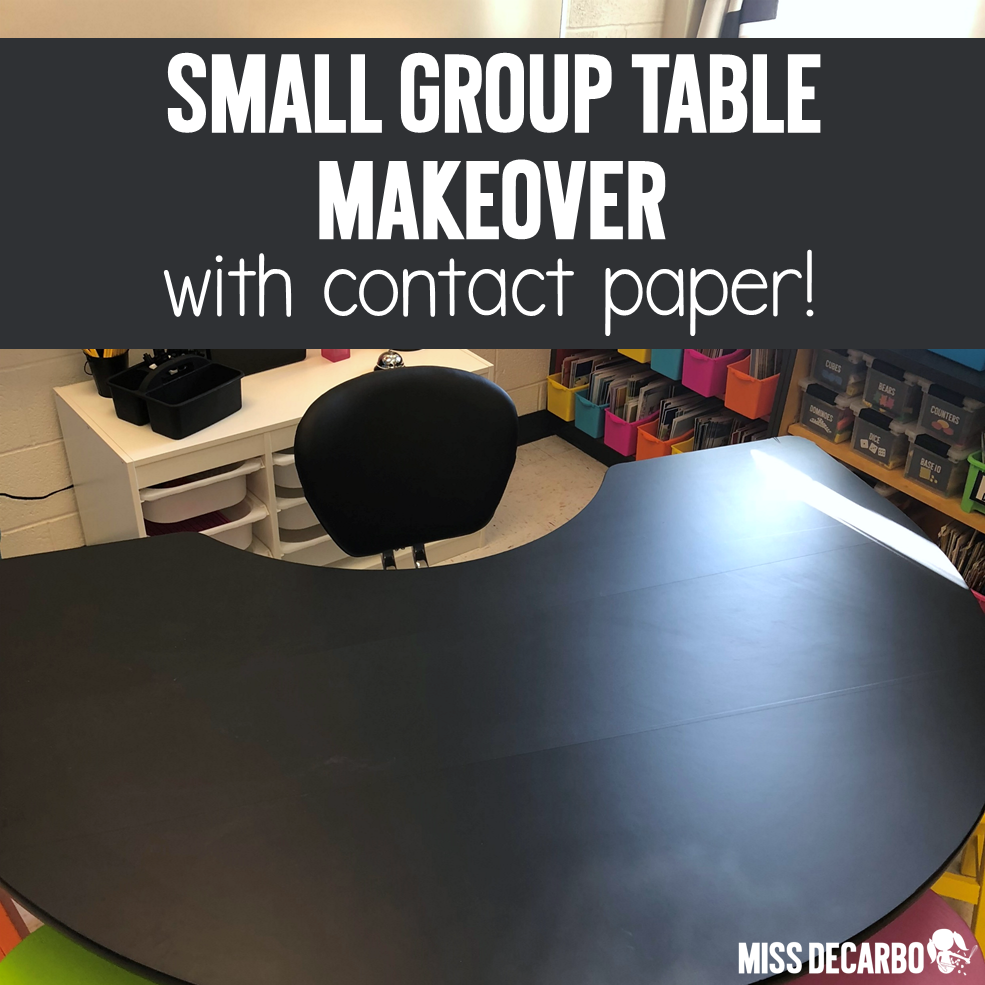 How To Cover Your Small Group Table with Contact Paper