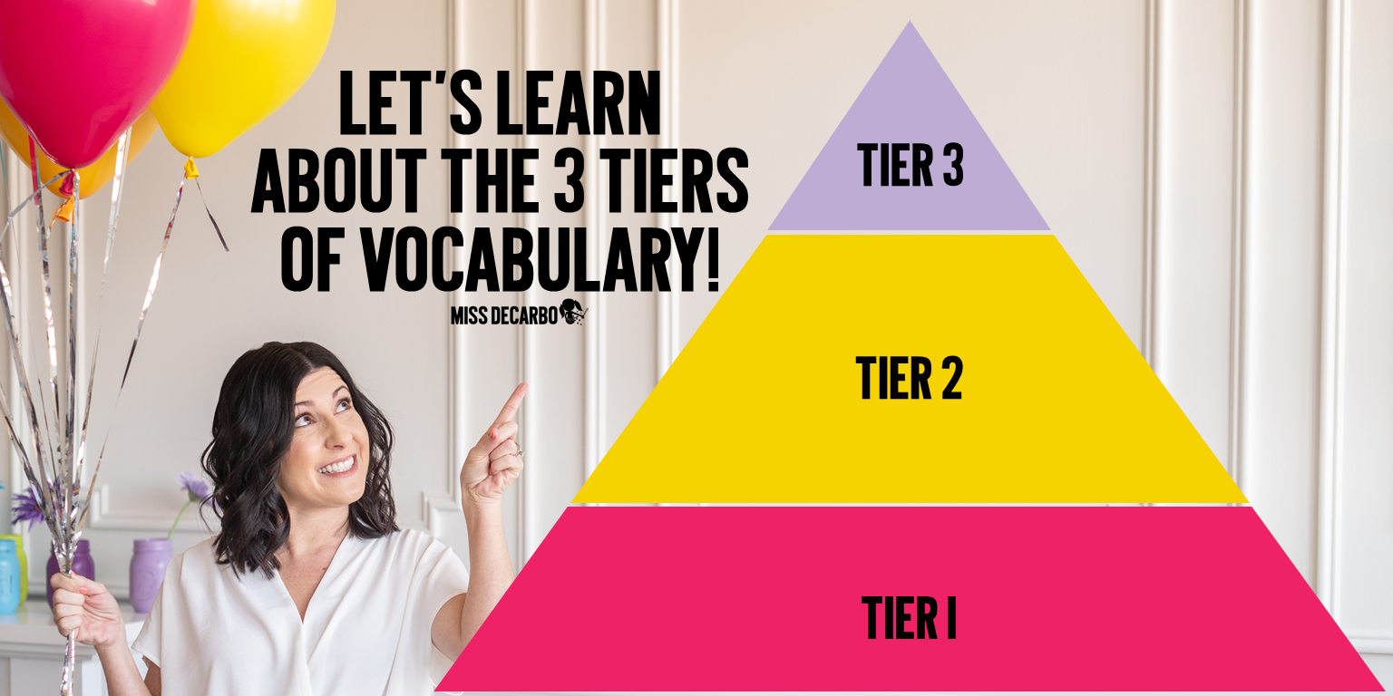 Let's learn about the three tiers of vocabulary!
