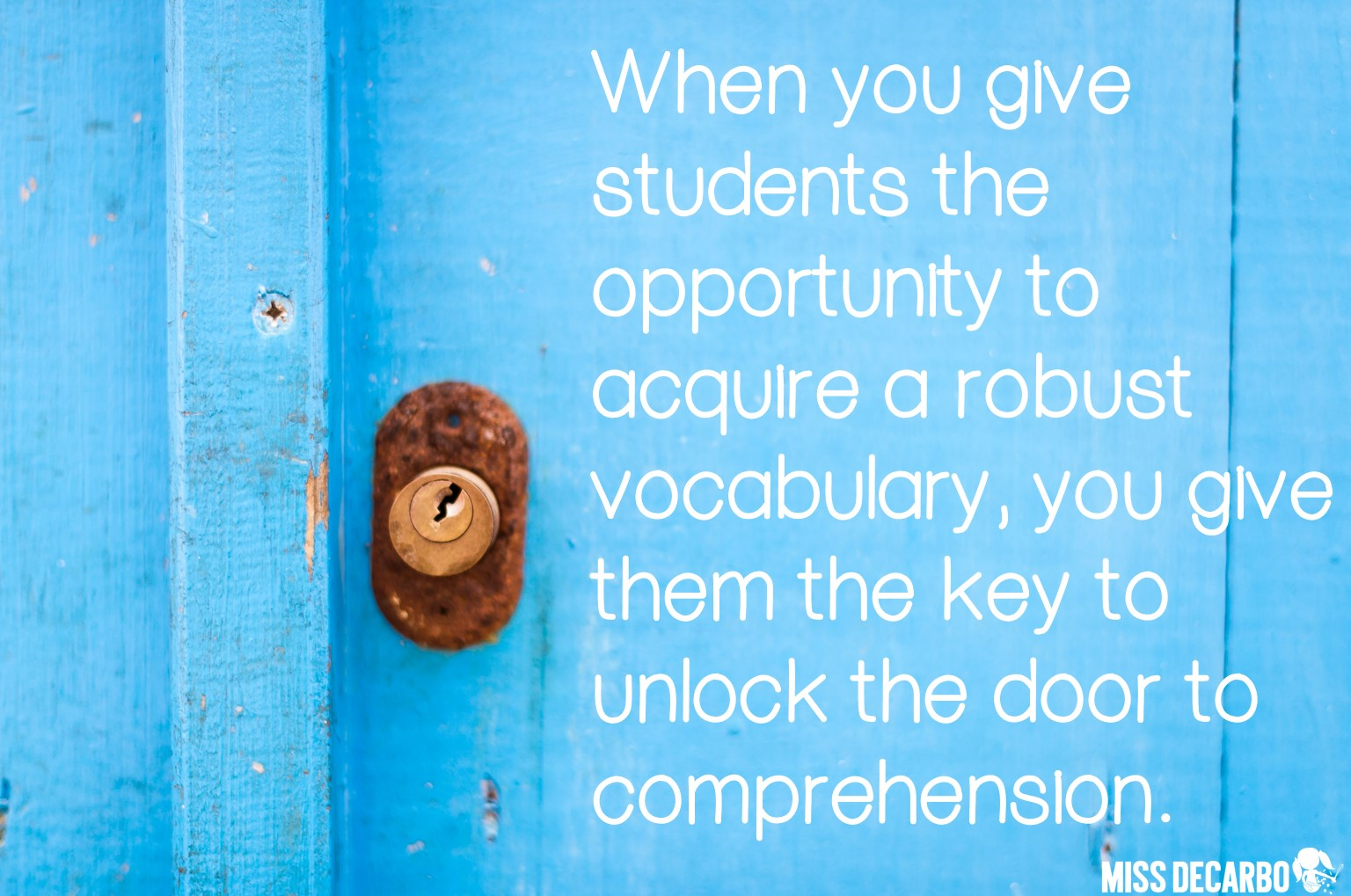 Our students' vocabulary is directly related to their comprehension success.
