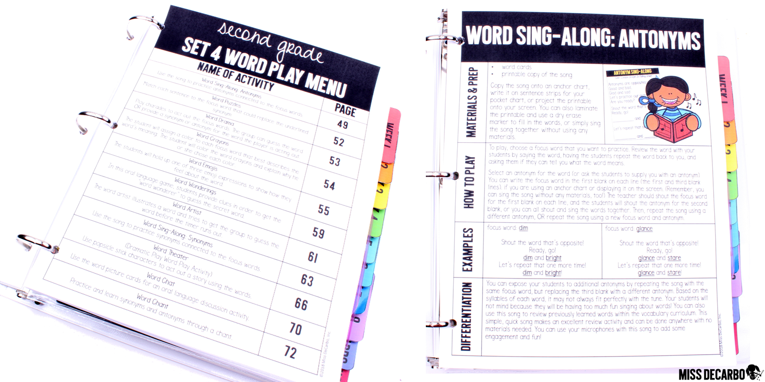 Word Play activities are a great way to teach students Tier 2 vocabulary words and their multiple meanings!