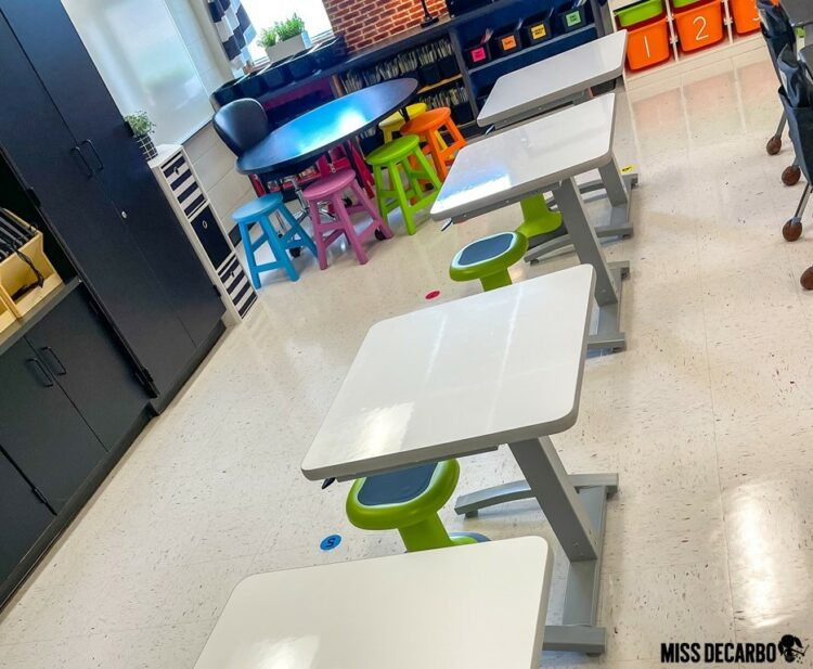 Surge Sit to Stand Desks are an ideal solution for kid-friendly stand up desks in the classroom!